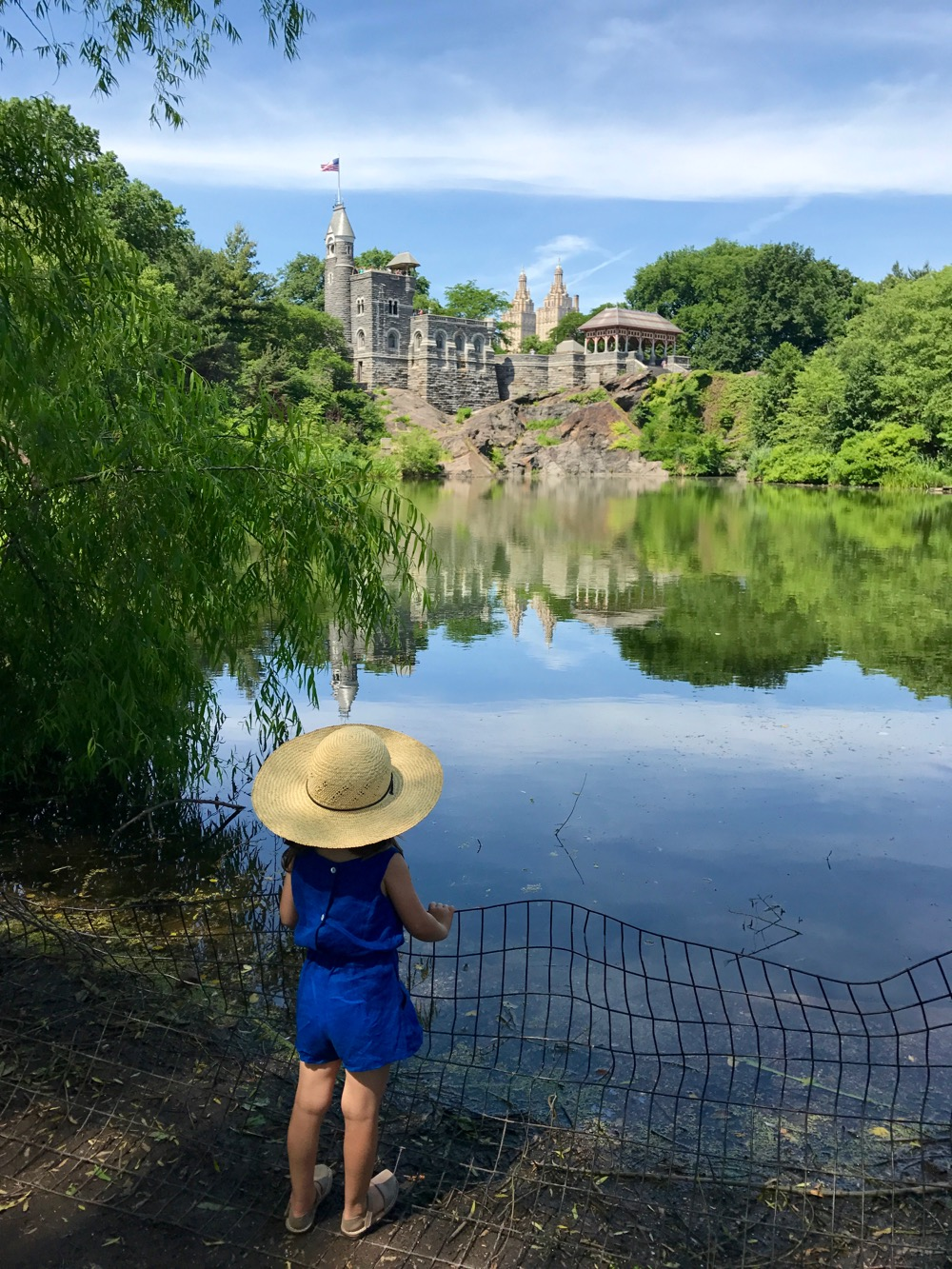 View of Belvedere Castle from the far side of Turtle Pond