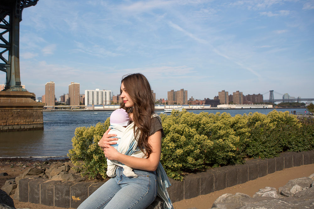 baby wearing hudson river galileo