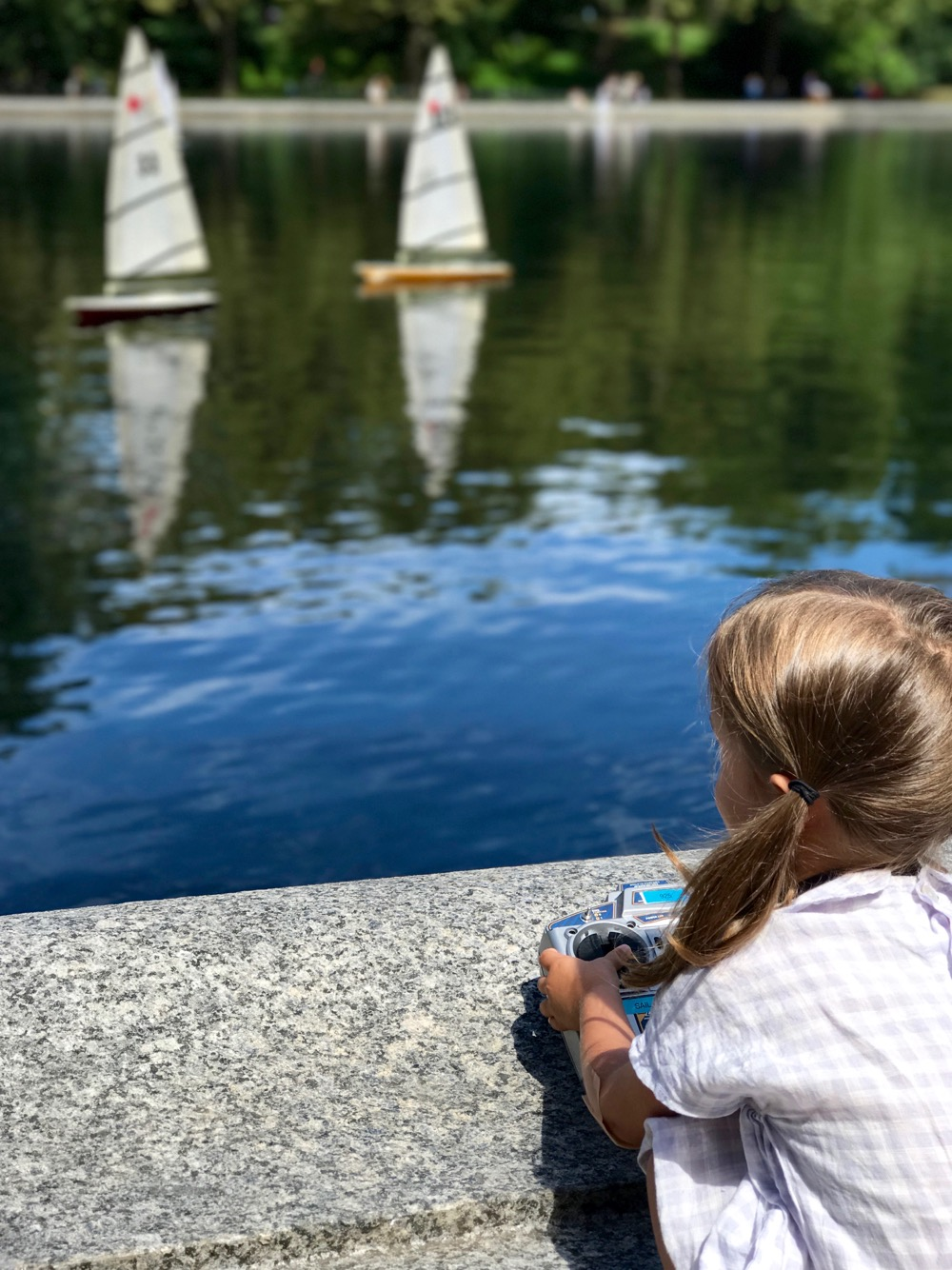 sailing boats on Conservatory Water