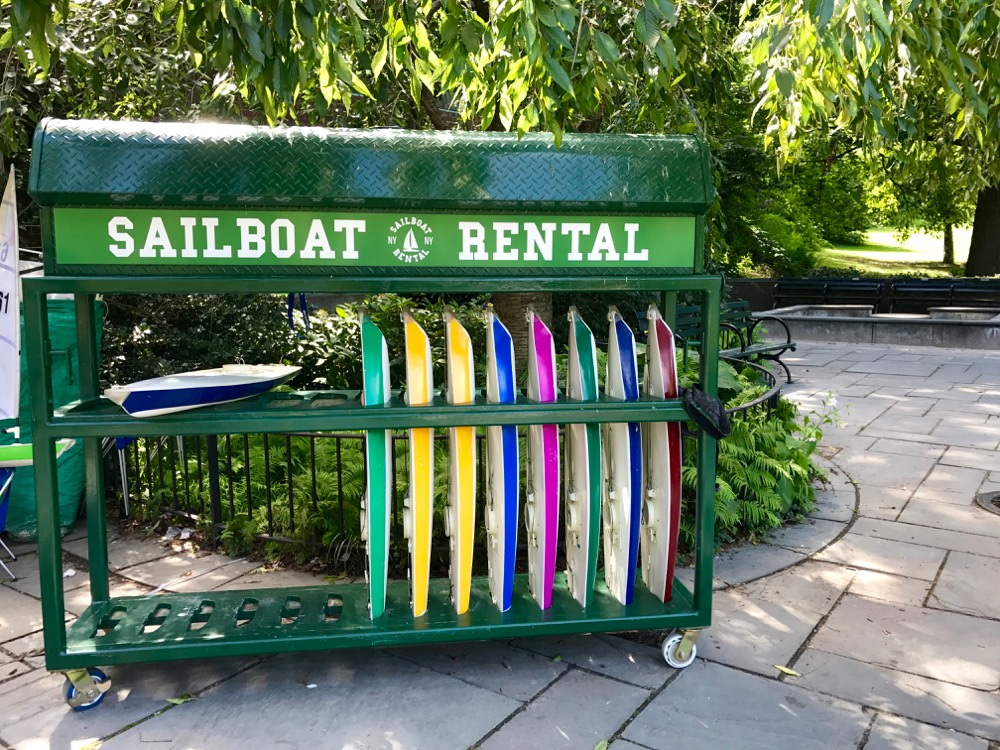 sailboat rental at Conservatory Water