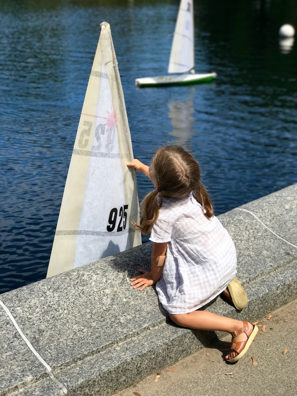 sailboat on Conservatory Water