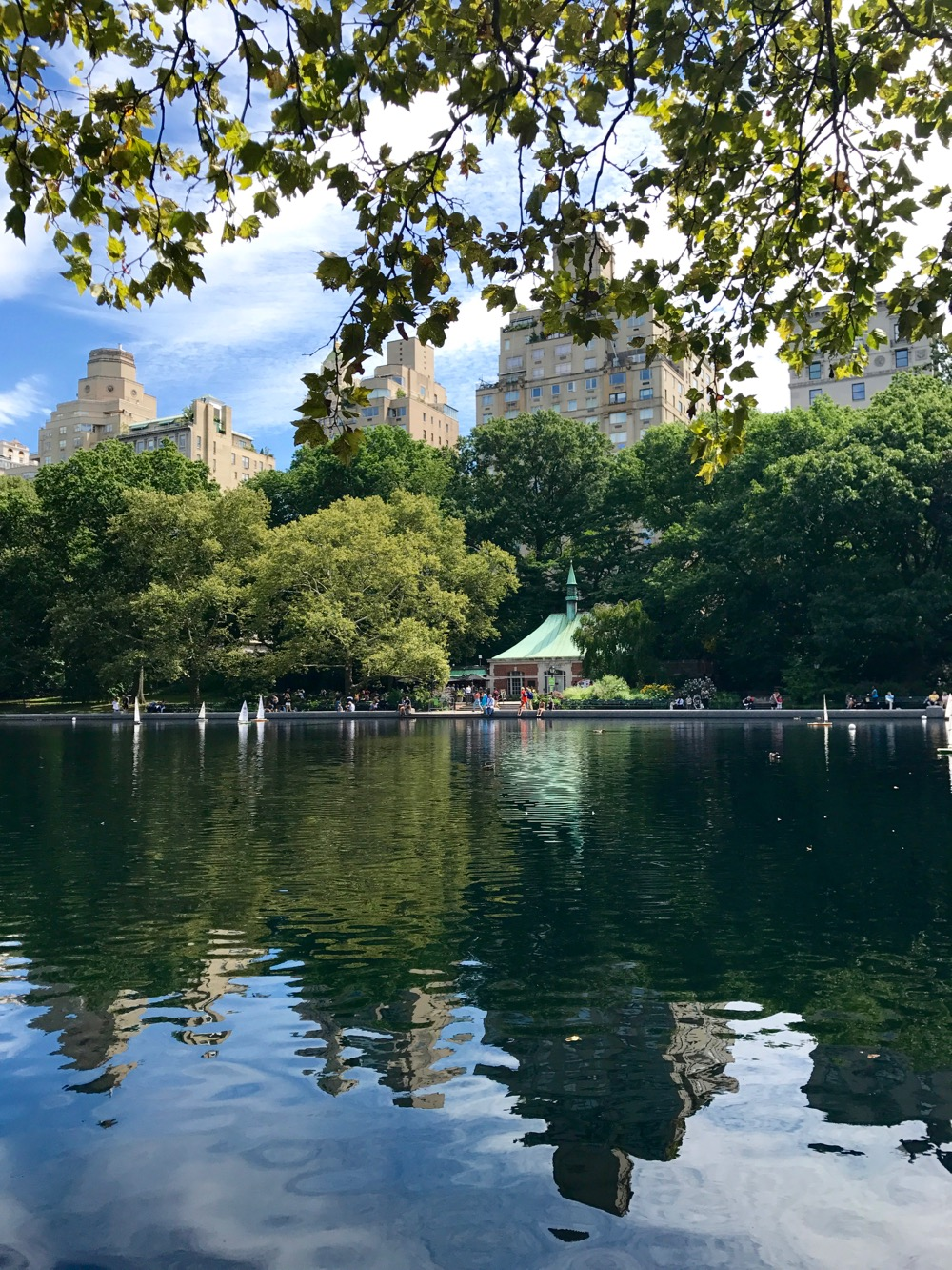 skyline reflected on Conservatory Water