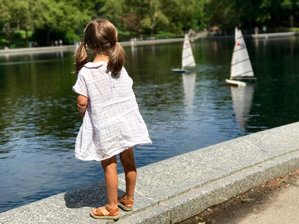 watching boats on Conservatory Water