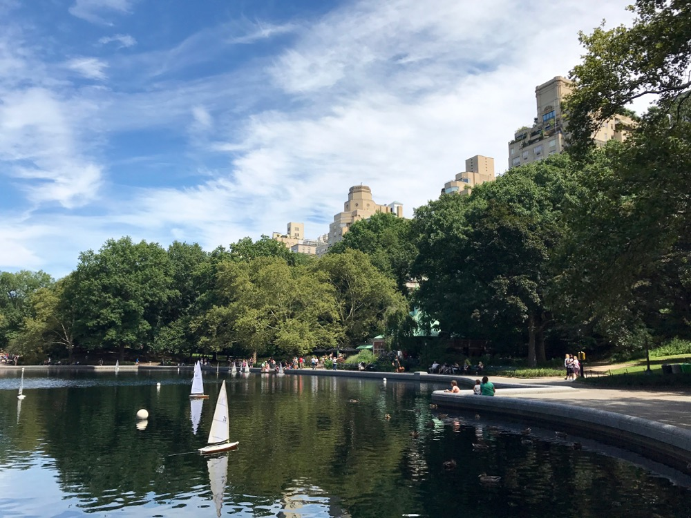 Conservatory Water with New York skyline