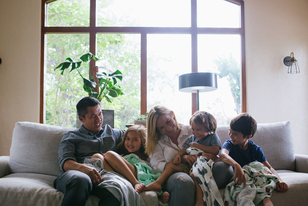 tula family with their blankets