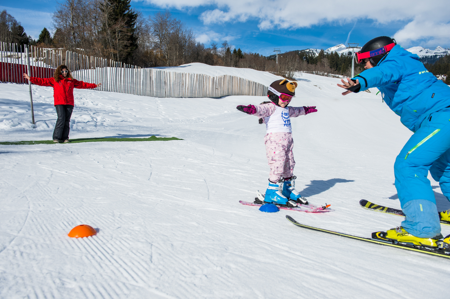 skiing with kids powder Byrne