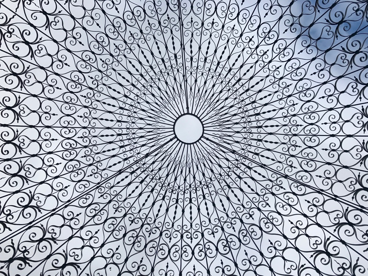 Looking up in the Temple of Love