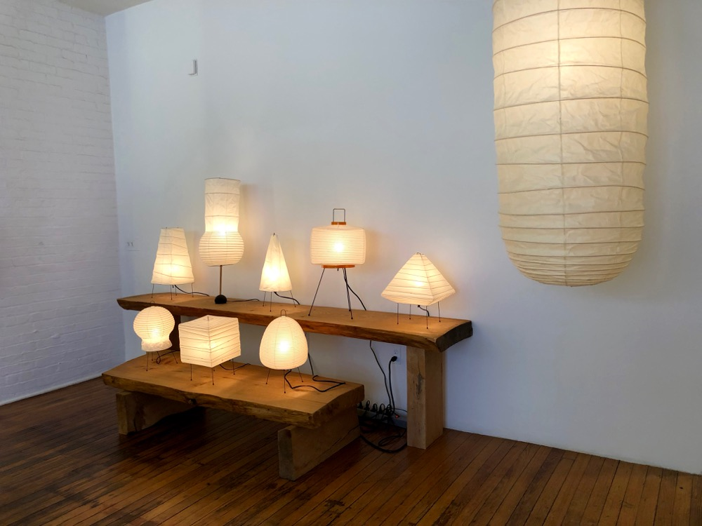 lamps at the Noguchi Museum