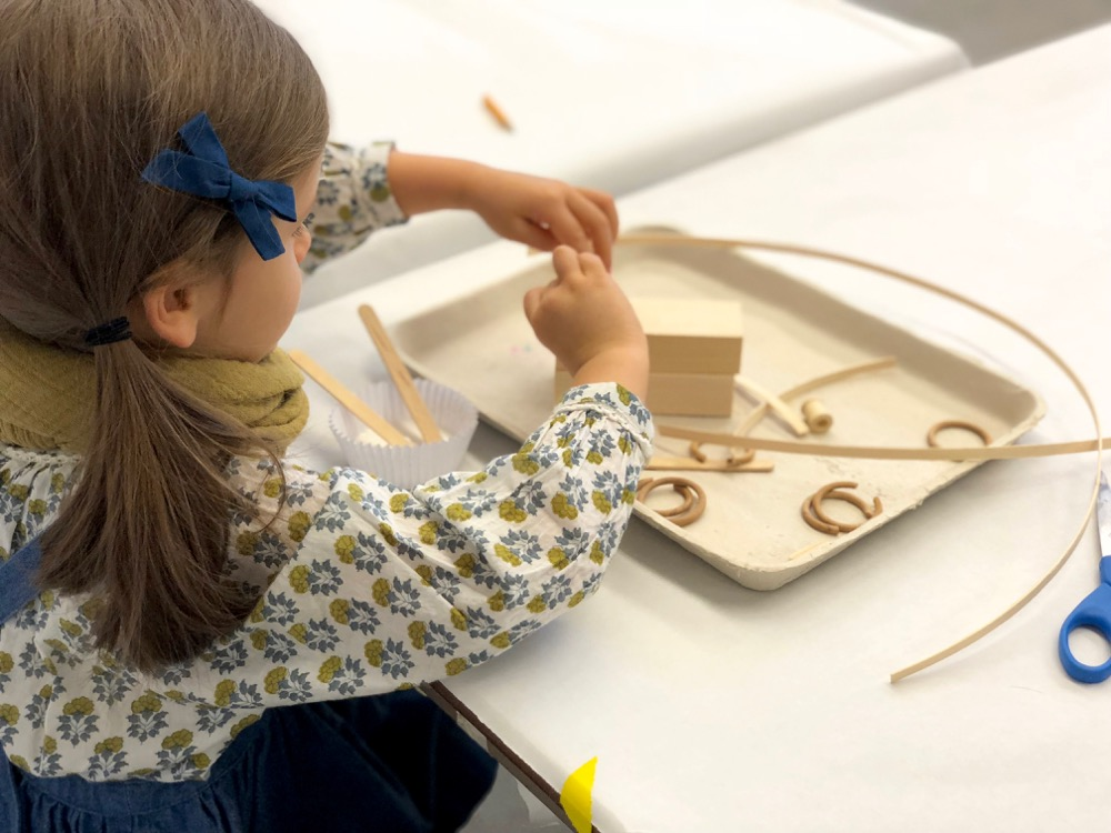 Art activity at Noguchi Museum Open Studio