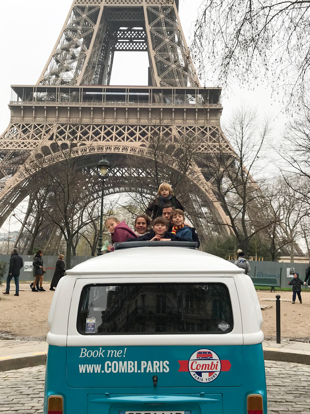 A tour of Paris in a retro VW van