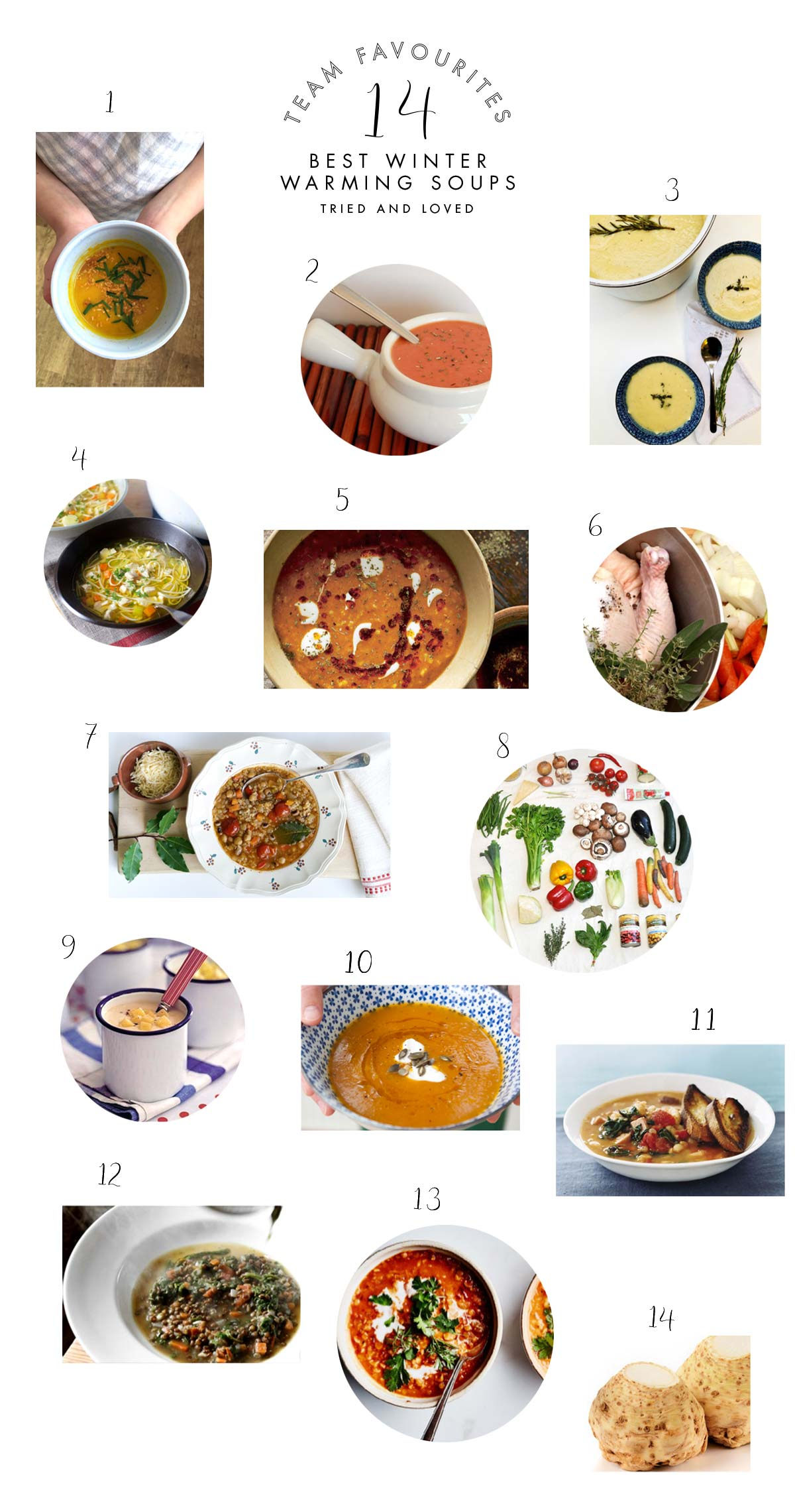 winter soups and stews -- team favourites