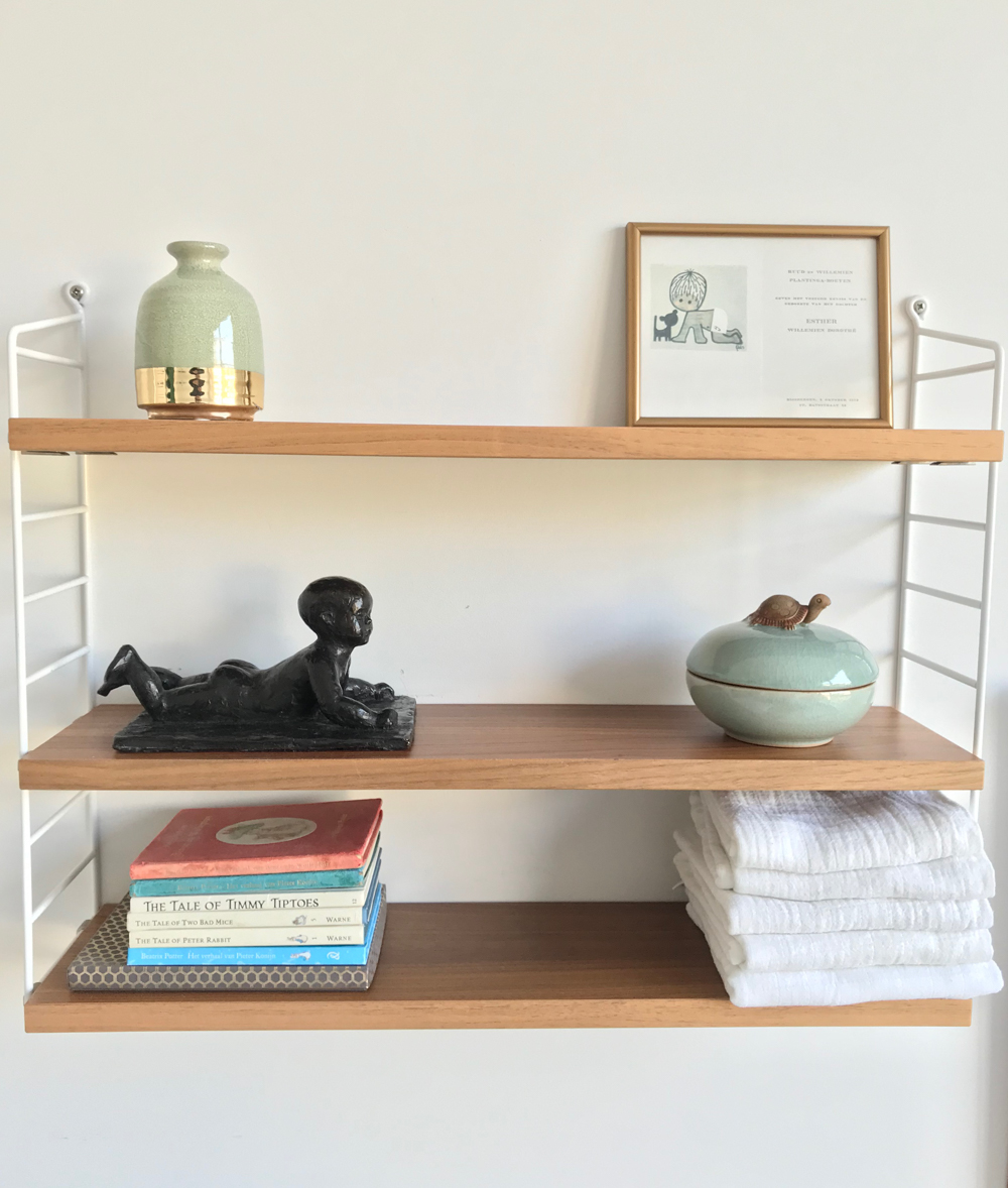 nursery string shelves