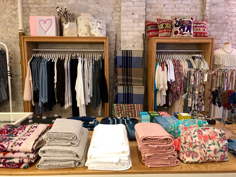 selection of women's and home goods