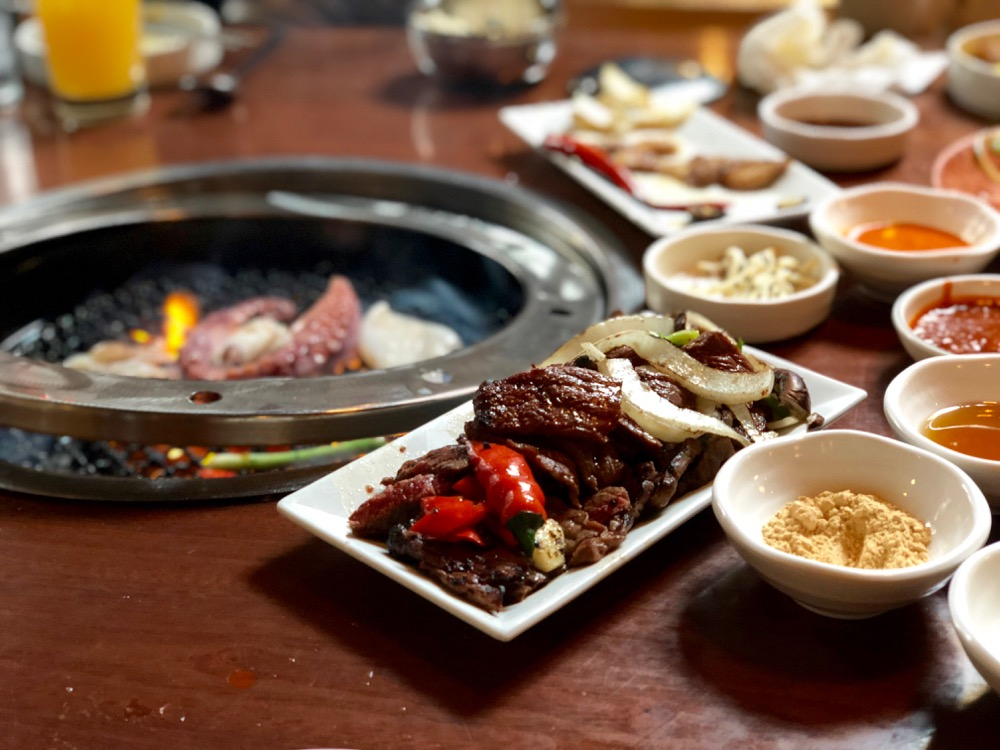 grilled galbi at Insa