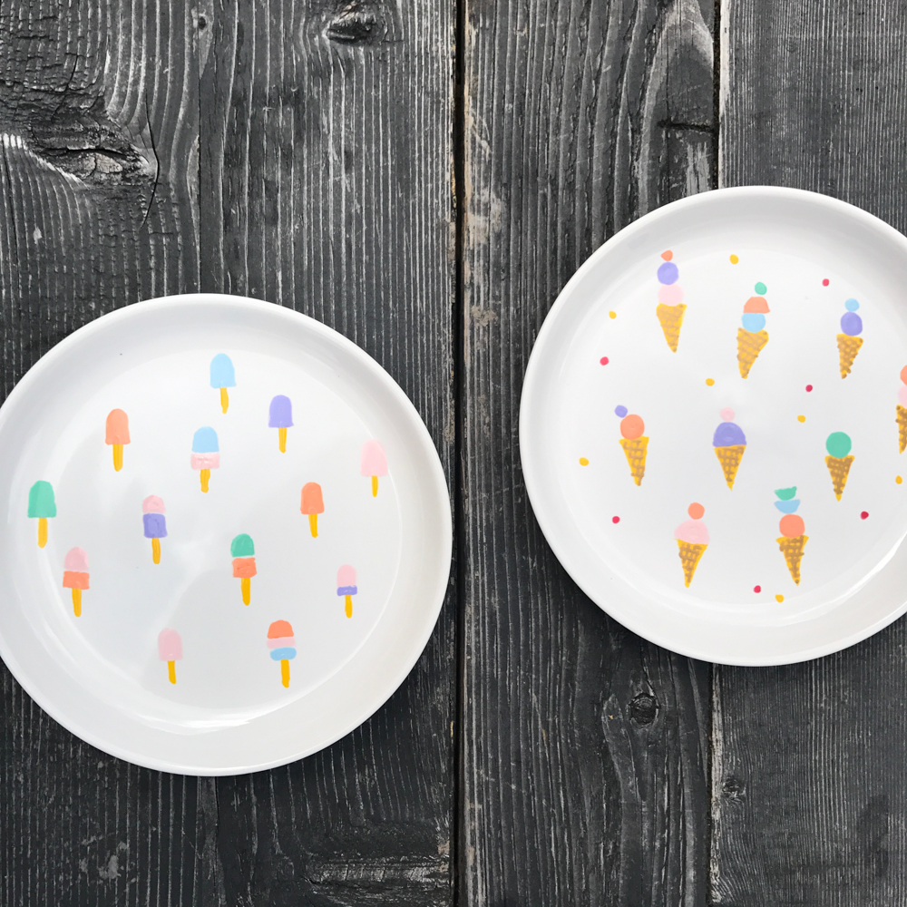 ice-cream party plates