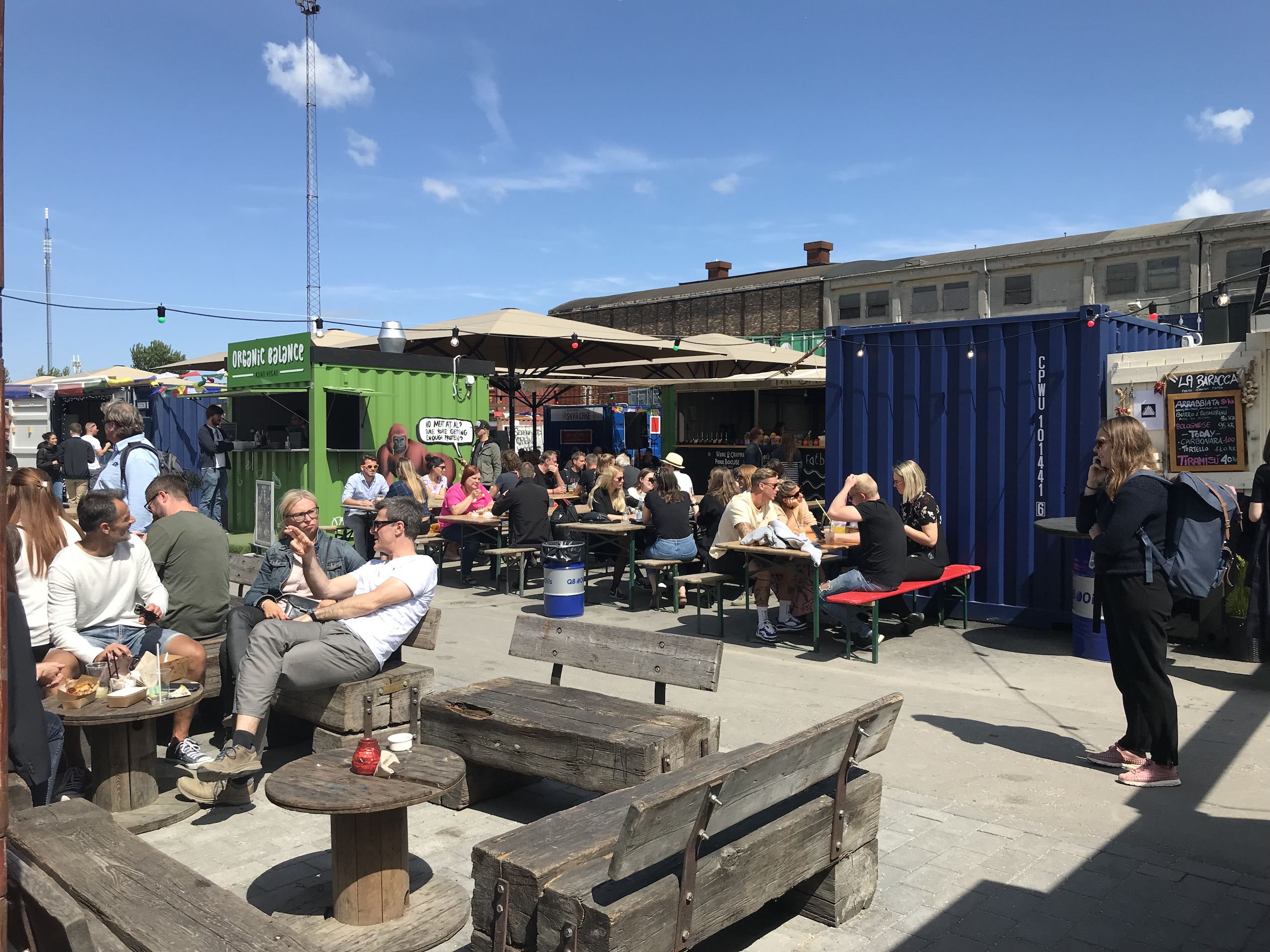 people-sitting-outside-reffen-market-copenhagen