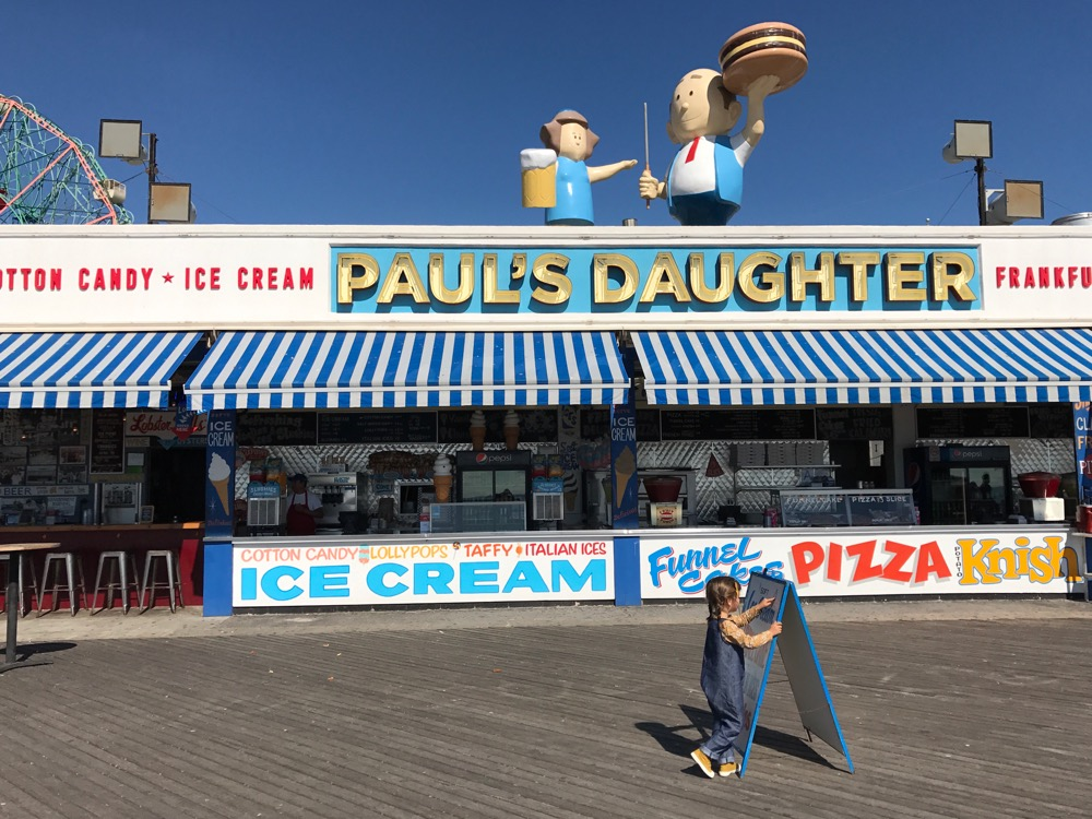 Paul's Daughter on the Coney Island boardwalk