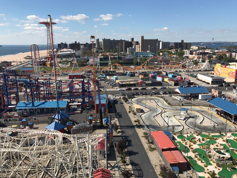 View from the top of the Wonder Wheel at Coney Island