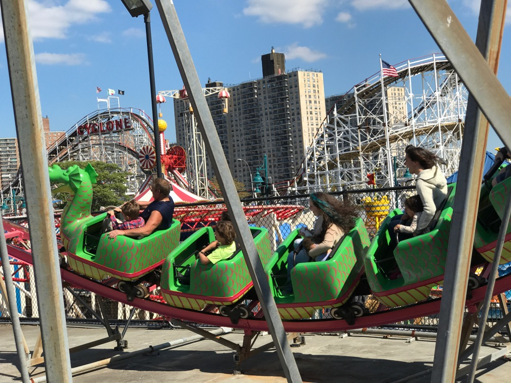 Dragon coaster and Cyclone at Coney Island