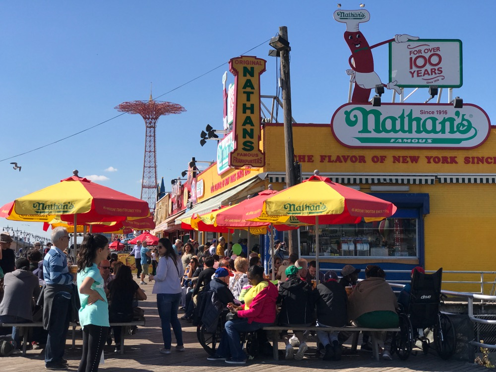 Nathan's Hot Dogs at Coney Island