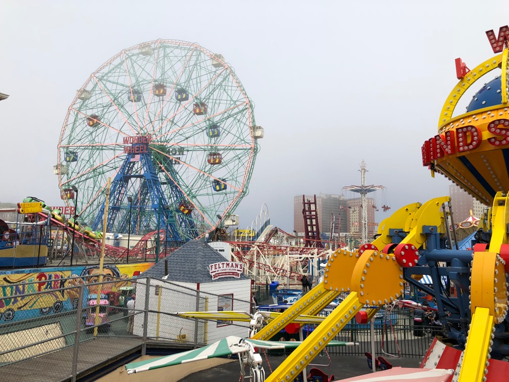 Fog over Luna Park at Coney Island