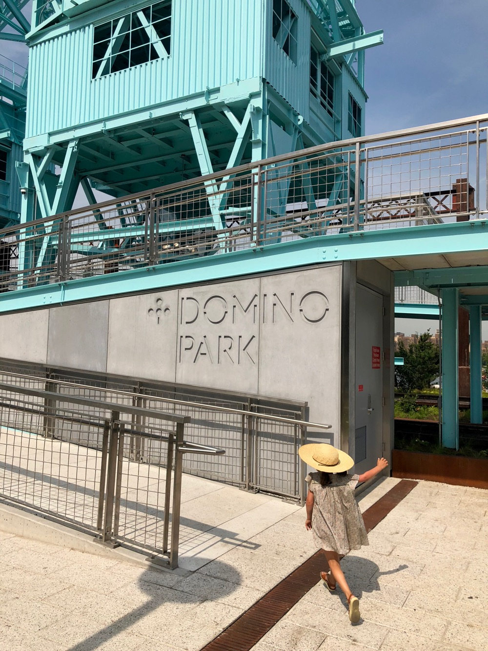 Entrance to Domino Park