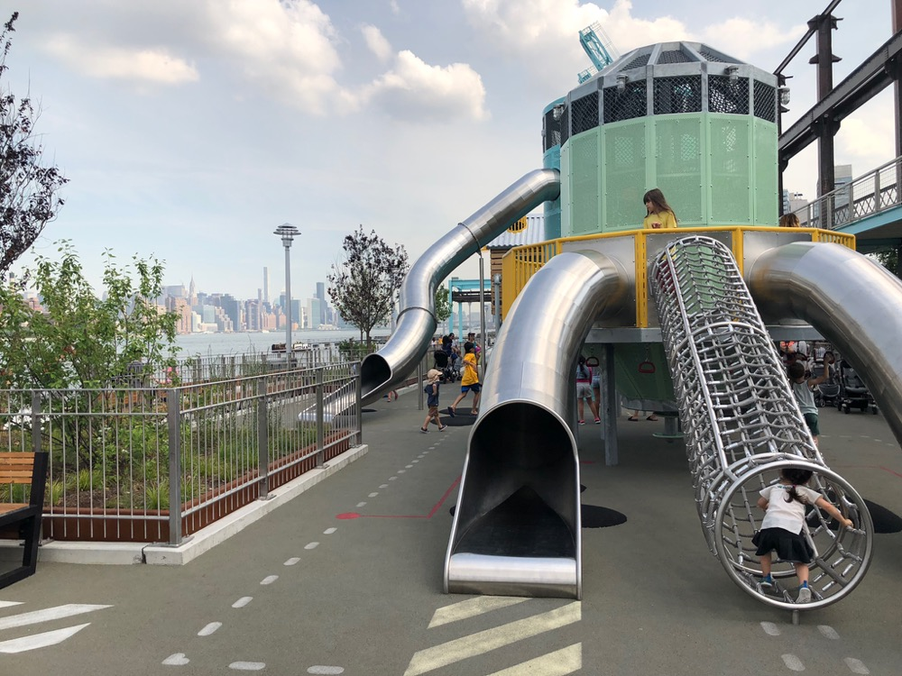 Playground for younger children at Domino Park