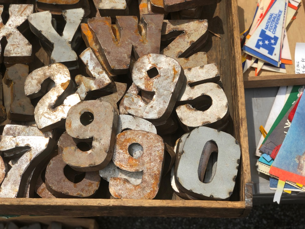 Vintage signs at Brooklyn Flea