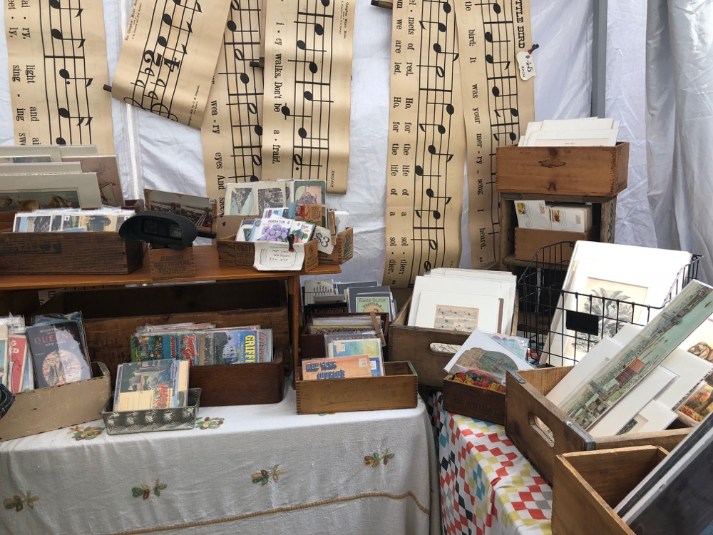 Vintage prints at the Brookyn Flea