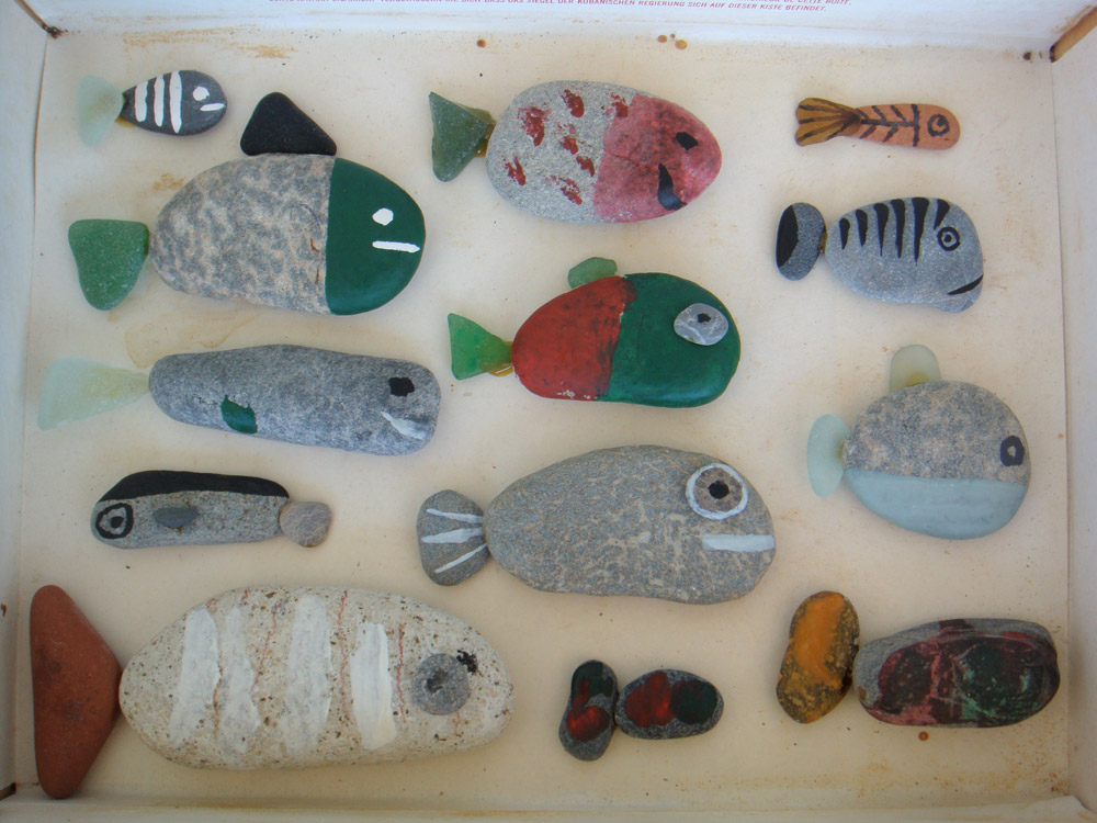 clever rock painting idea