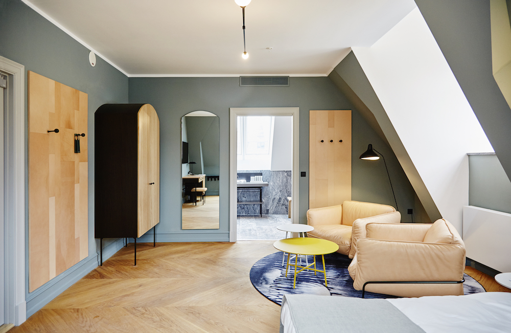 pale_wood_green_walls_penthouse_nobis_copenhagen