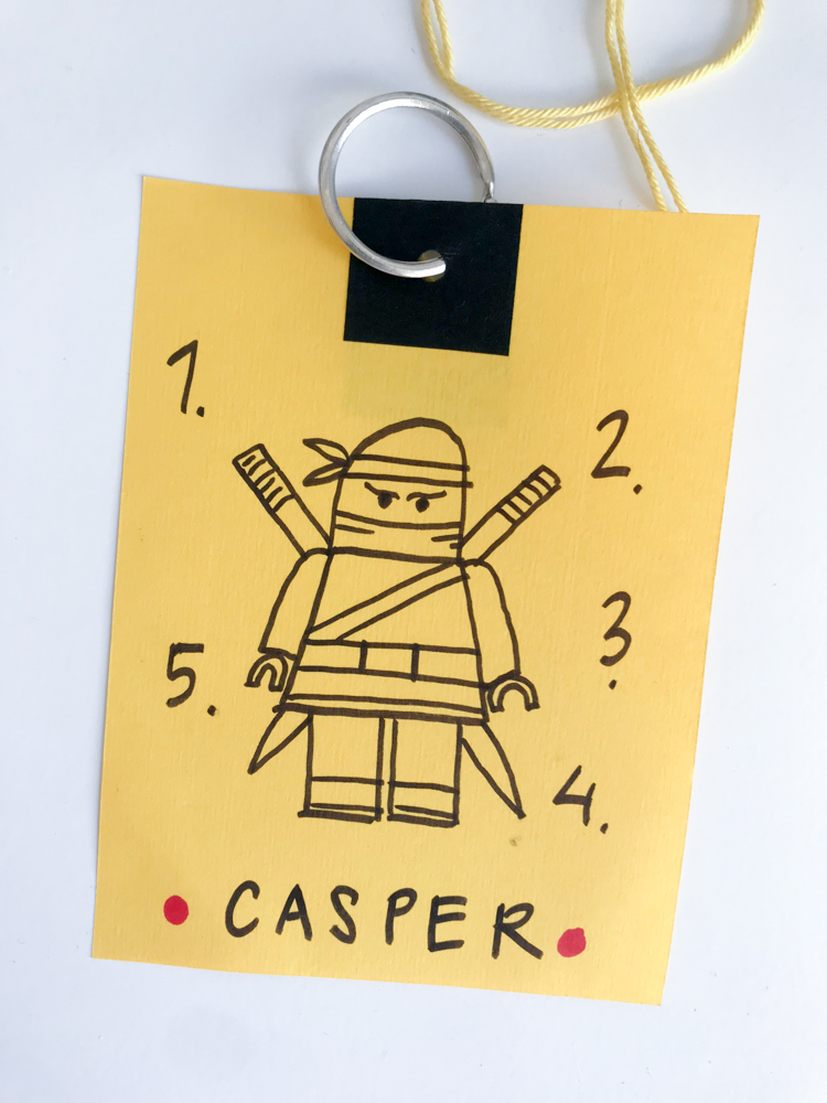 ninjago party activity card