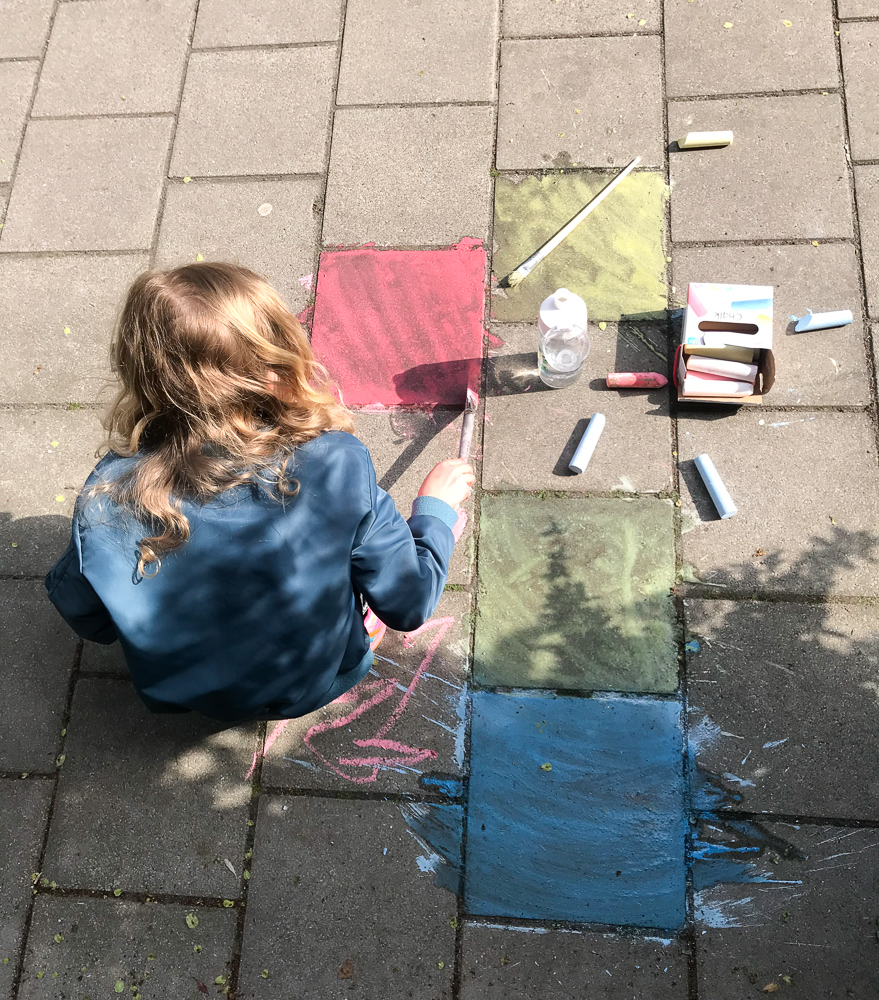 watercolour sidewalk chalk
