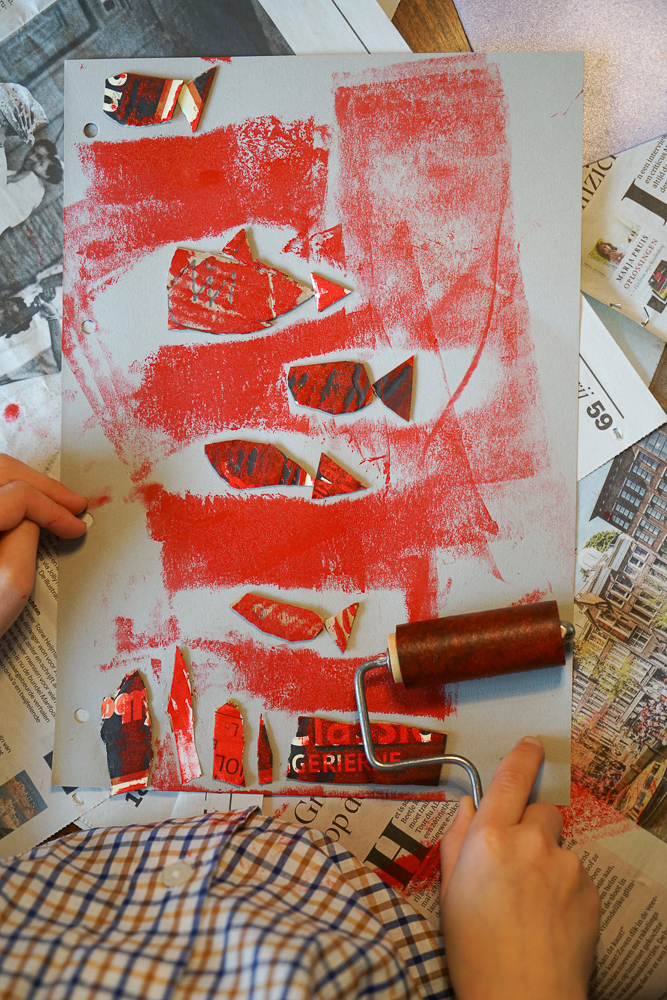 Collagraph printing with kids
