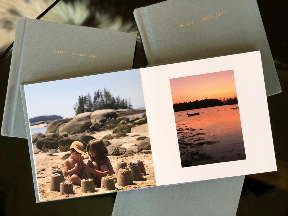 summer photos preserved in a photo book
