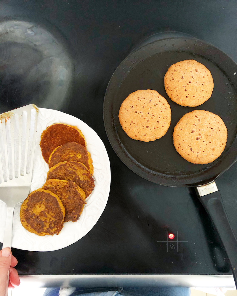 Sweet Potato + Maple Pancakes
