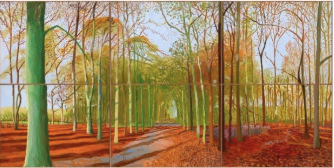 David Hockney, Woldgate Woods, 2008