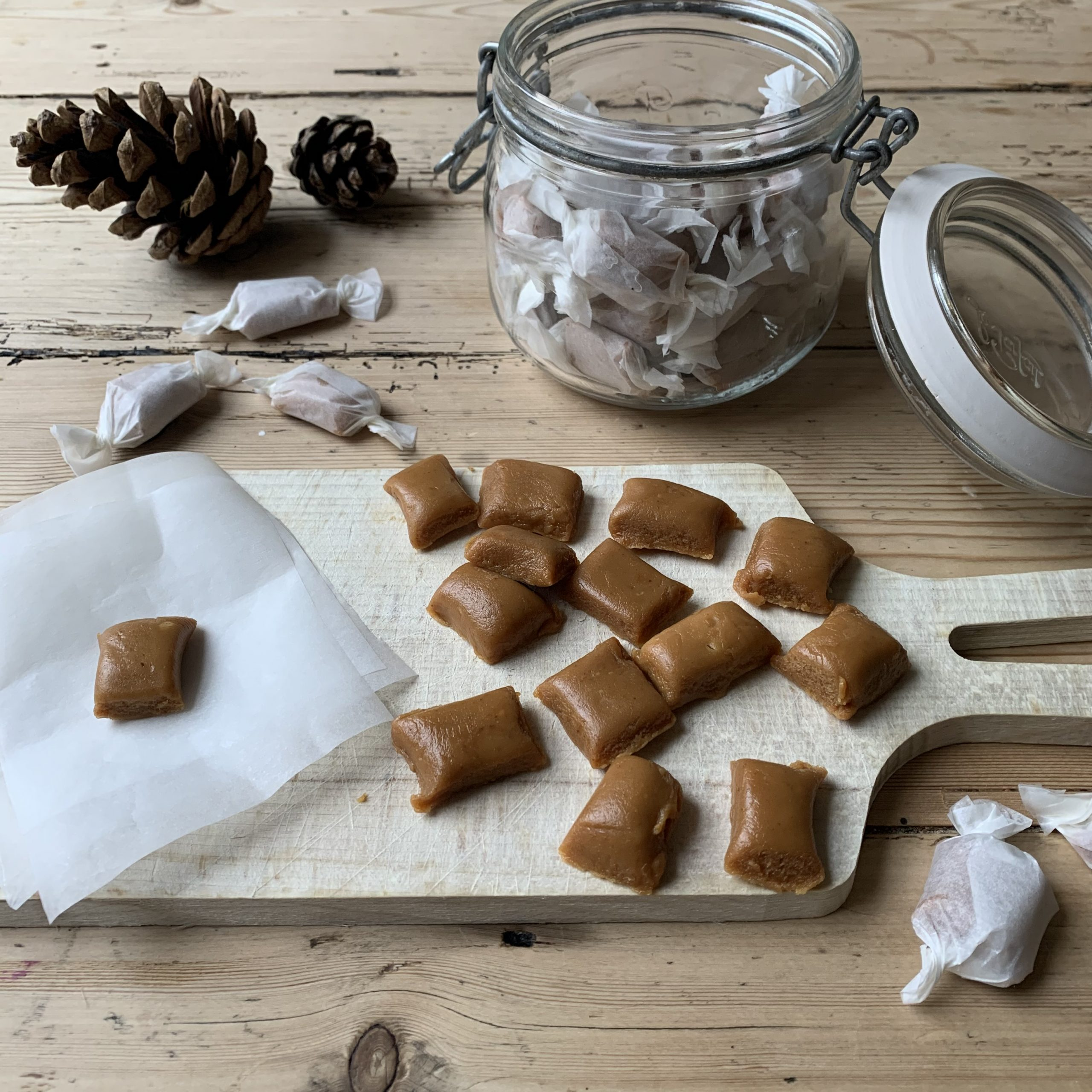 Two ingredient chewy caramels